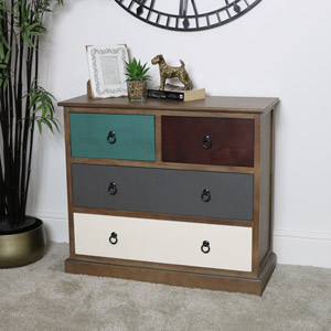 Rustic 4 Drawer Chest of Drawers - Loft Living Range