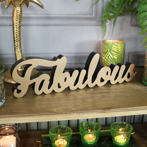 "Wall Mounted Gold ""Fabulous"" Plaque"