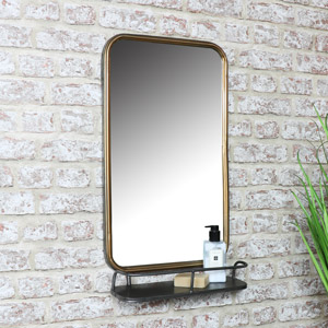 Wall Mirror with Shelf