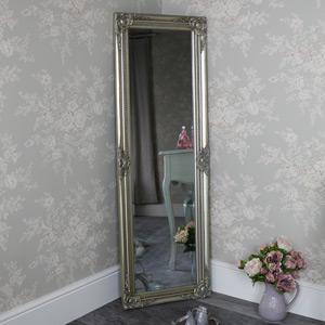 Tall Champagne Silver Wall Mirror 47cm x 142cm