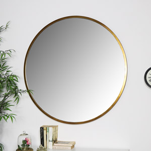 Large Round Gold Mirror 100cm x 100cm