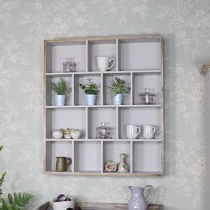 Large Multi Shelf Wall Unit - Cotswold Range