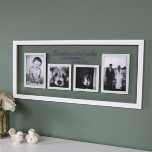 """Friends"" Wall Mounted Glass Photograph Frame"