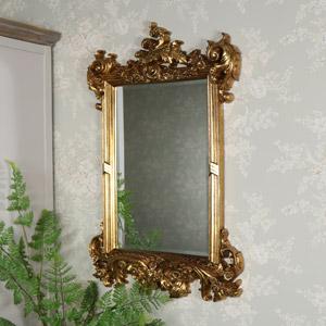Large Antique Gold Wall Mirror 61cm x 91cm
