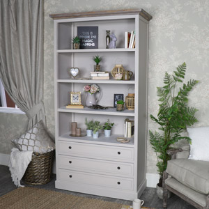 Cotswold Range - 3 Drawer Bookcase