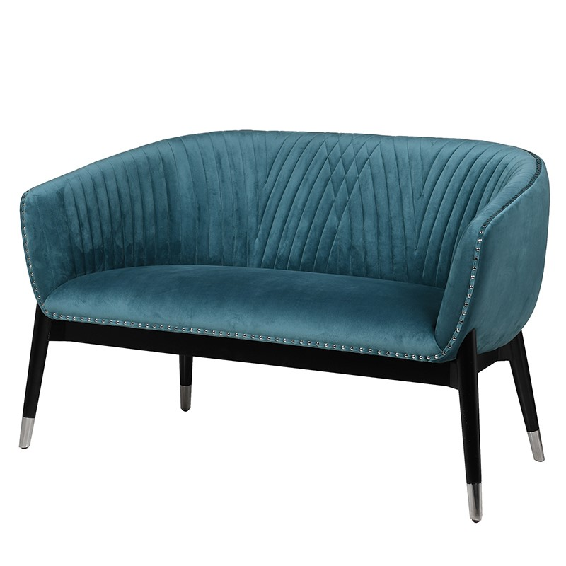 Blue Velvet 3 Seater Sofa