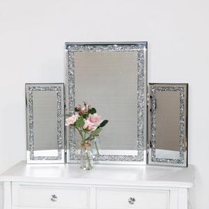 Jewelled Triple Dressing Table Mirror