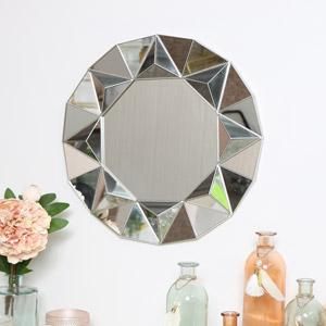 Silver Geometric Wall Mirror