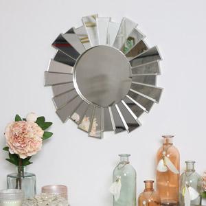 Silver Sunburst Wall Mirror