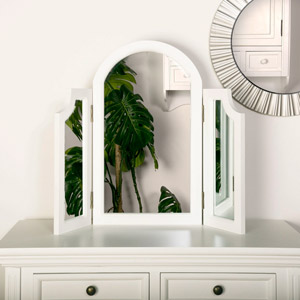 Eliza White Range - Triple Dressing Table Mirror