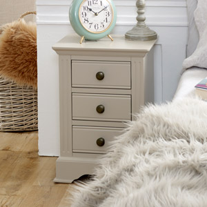 Taupe-Grey Bedside Table - Davenport Taupe-Grey Range