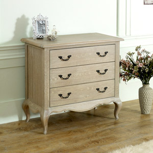 French Style 3 Drawer Chest of Drawers - Brigitte Range