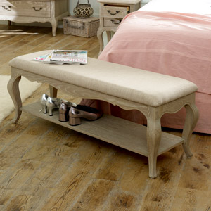 French Style Bench with Shelf - Brigitte Range