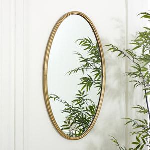 Bronze Oval Wall Mirror 43cm x 82cm