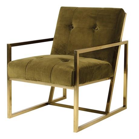 Green Velvet Accent Chair