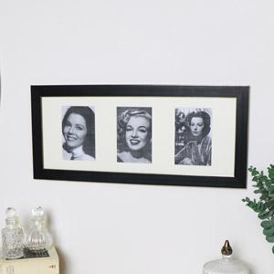 Black & Gold Triple Photo Frame