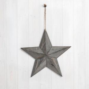 Medium Grey Wooden Barn Star 37cm x 37cm