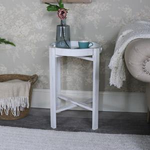 White Folding Tray table - Mia Range