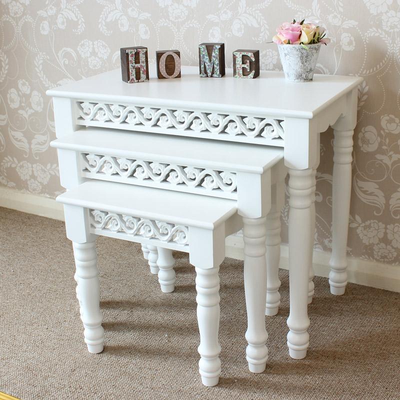 Blanche Range - White Nest of 3 Tables