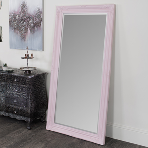 Large Pink Ornate Wall/Floor Mirror 158cm x 78cm