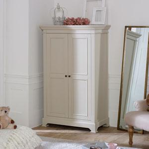 Linen Closet/Low Wardrobe - Daventry Taupe-Grey Range