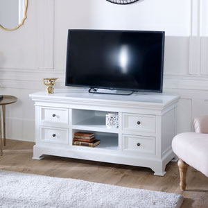 Large TV / Media Unit - Daventry White Range