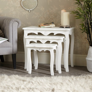 Nest of 3 White Tables - Jolie Range