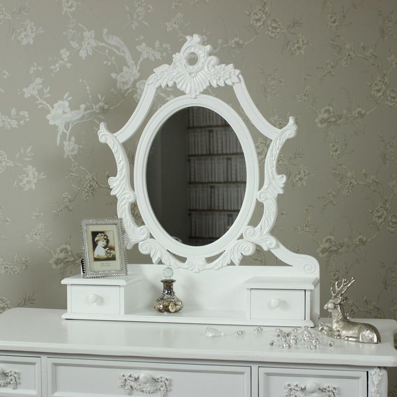 Freestanding Tabletop Vanity Mirror - Pays Blanc Range