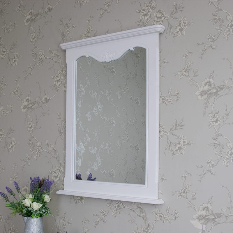 Ornate White Wall Mirror - Elise White Range 60cm x 80cm