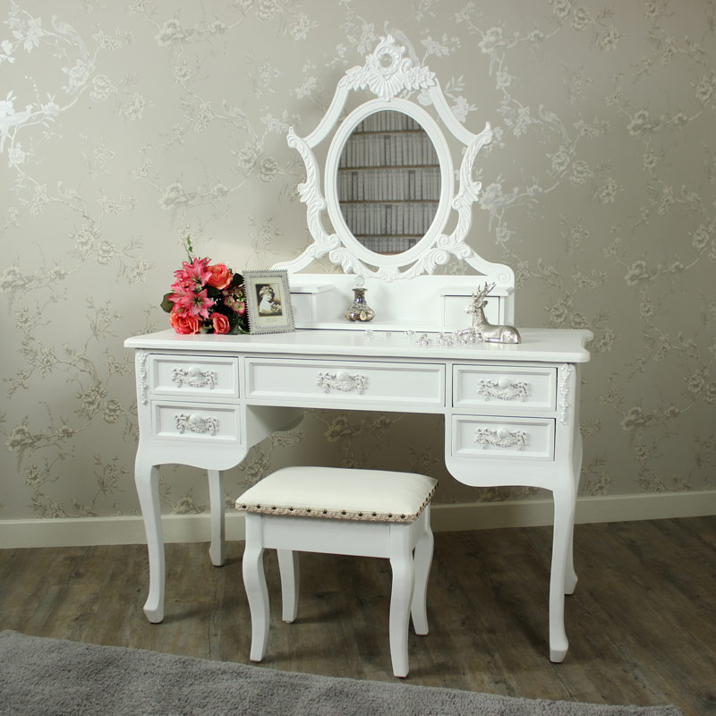 Antique White Dressing Table Set - Pays Blanc Range