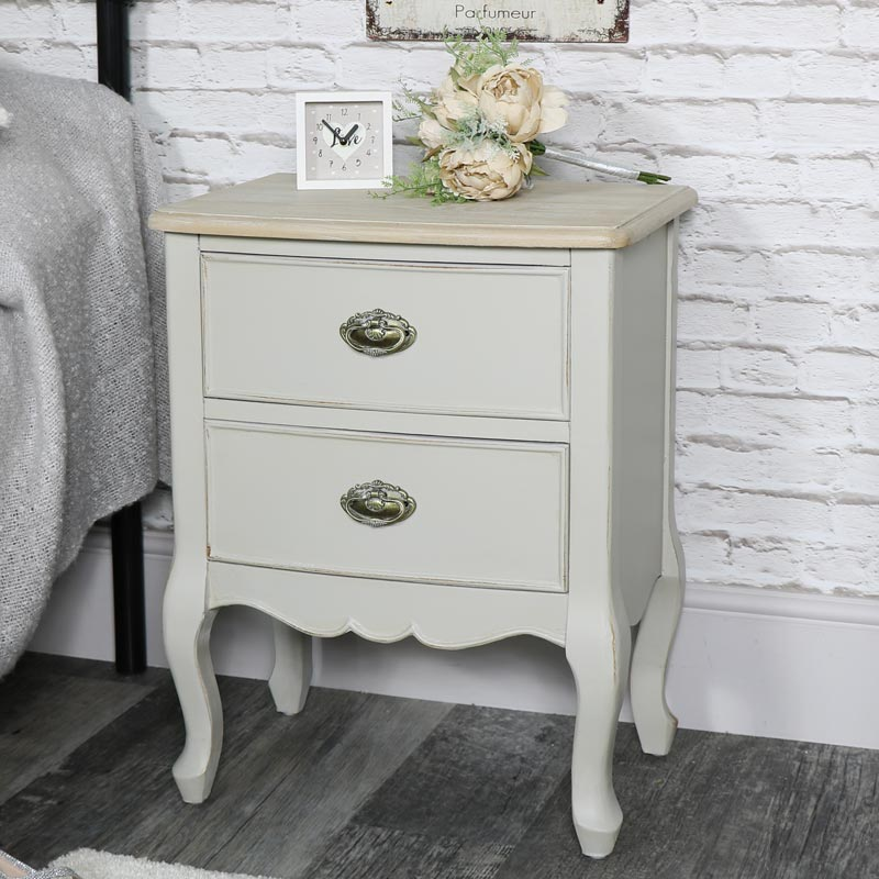 Albi Range- Two Drawer Bedside Table