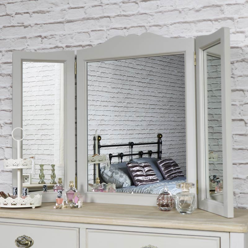 Albi Range - Triple Dressing Table Mirror 65cm x 50cm