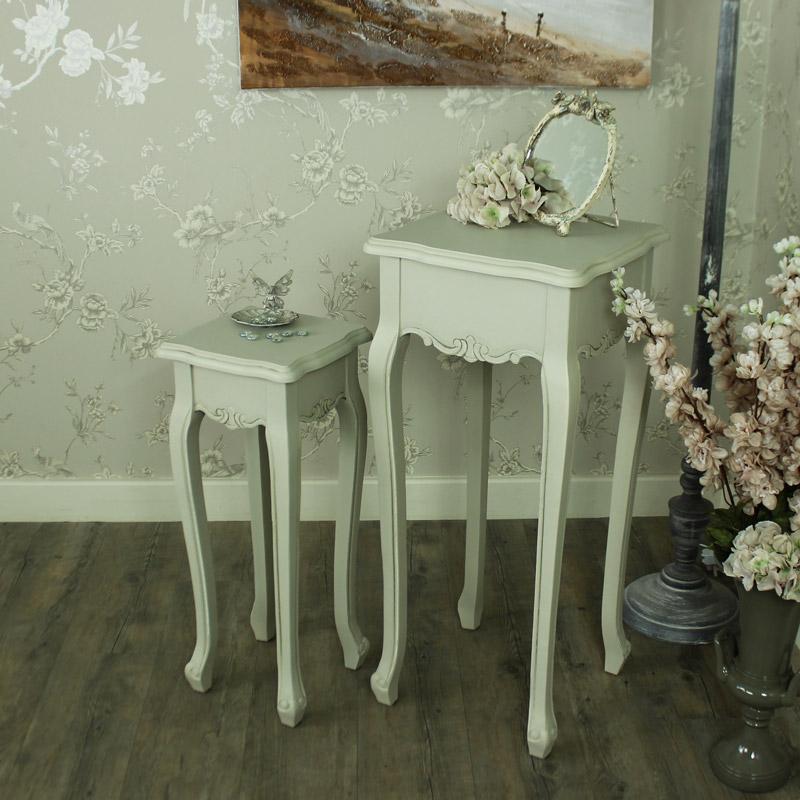 Elise Grey Range- Set of two Plant tables