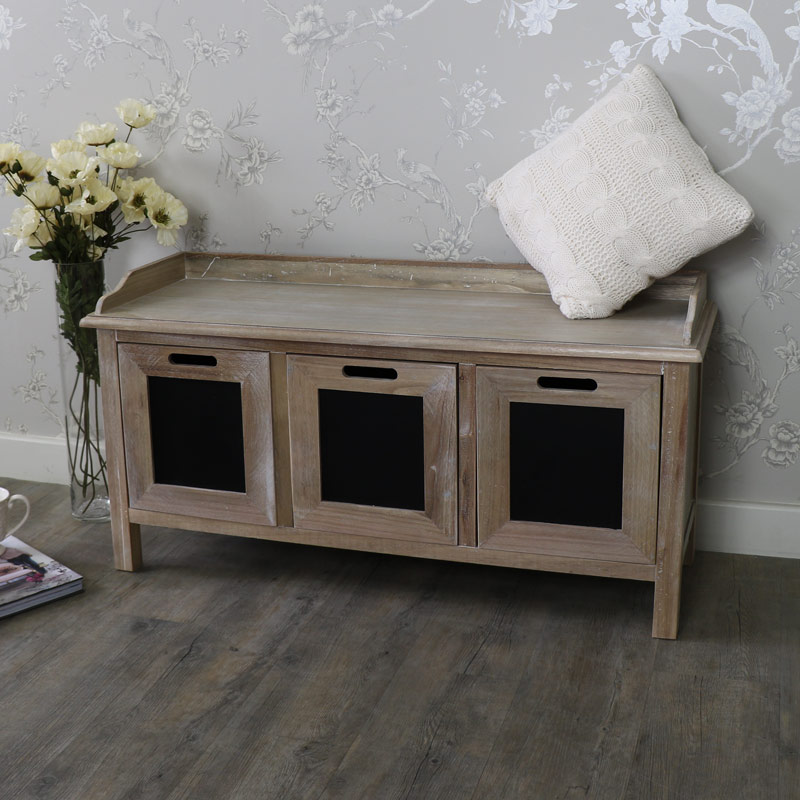 3 Drawer Storage Bench