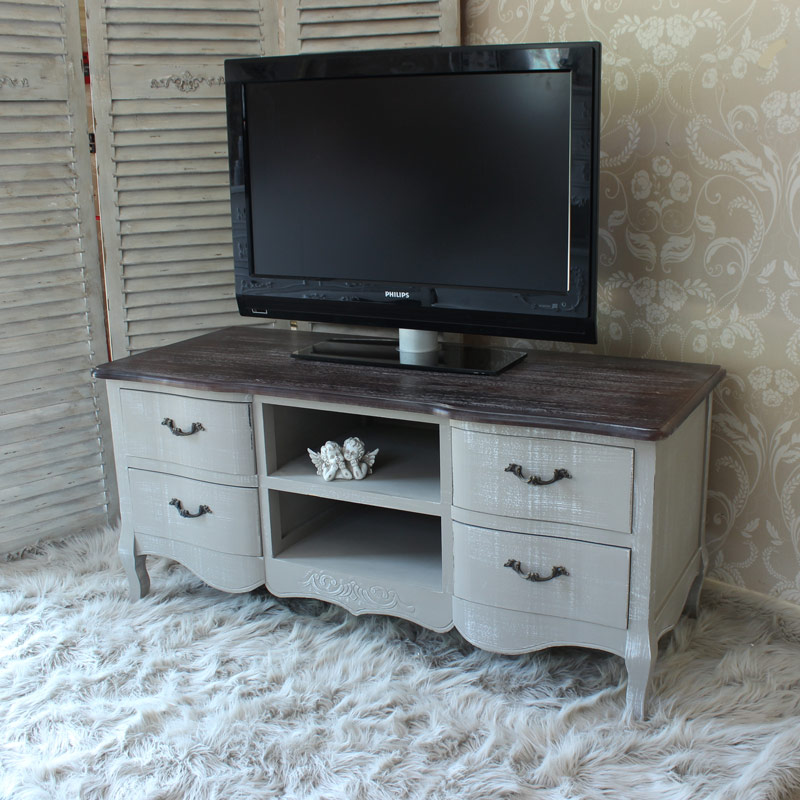 French Grey Range - Grey TV Cabinet Unit