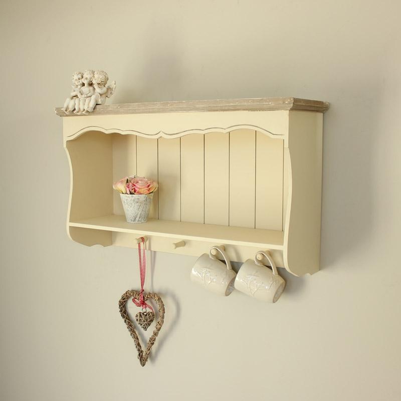 Country Ash Range - Cream Wooden Wall Shelf