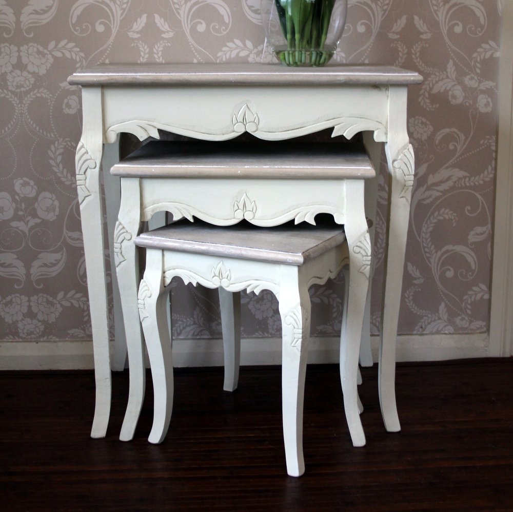 Country AshRange - Cream Nest of Tables