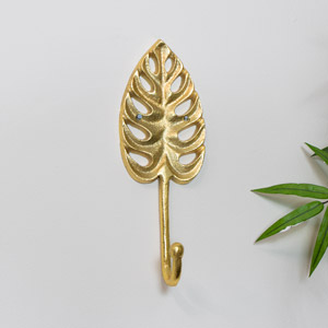 Monstera Leaf Wall Hook Gold