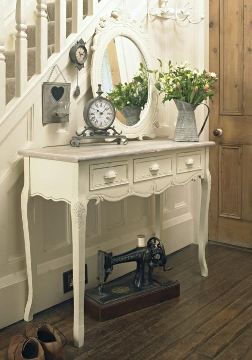 Country Ash Range - Cream Wooden 3 Drawer Dressing/Console Table
