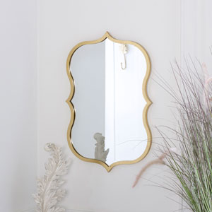 Decorative Gold Wall Mirror 41cm x 60cm