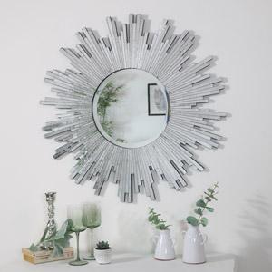 Silver Sunburst Wall Mounted Mirror