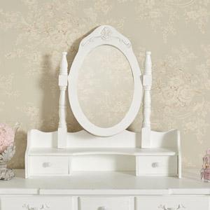 White Freestanding Tabletop Vanity Mirror - Jolie Range