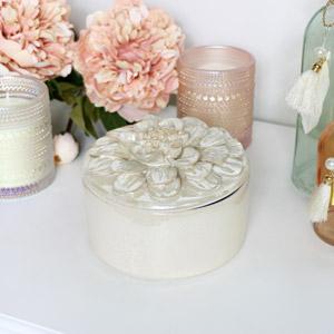 Ceramic Flower Petal Jewellery Box