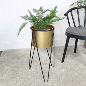 Large Gold & Black Planter