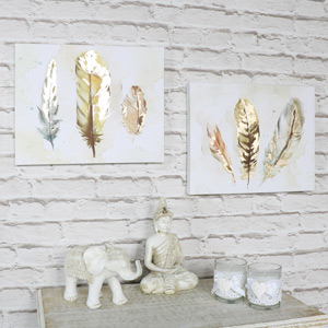 Set of 2 Watercolour Feather Prints