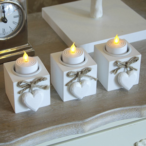 Heart Tealight Holders Set of Three