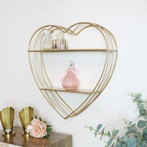 Gold Wire Heart Shelf