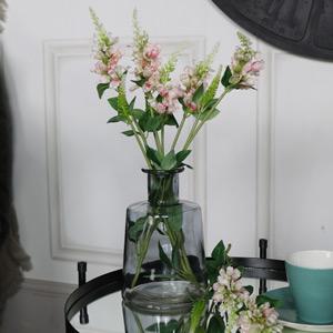 Smoked Glass Bottle Vase
