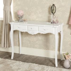 White 3 Drawer Dressing Table - Jolie Range