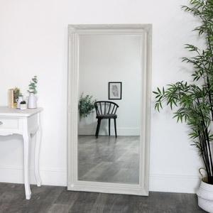 Large Ornate Taupe Wall / Floor / Leaner Mirror 158cm x 78cm